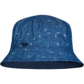 Buff Bucket Hat Enfant, arrows denim